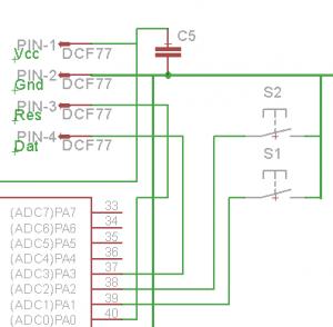 DCF77-Modul und Taster